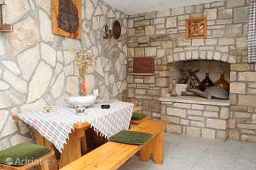 Lumbarda, Dining room u smještaju tipa house, dostupna klima i WIFI.