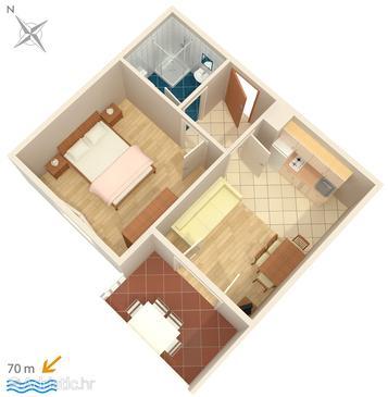Apartment A-448-b - Apartments and Rooms Uvala Soline (Dugi otok) - 448