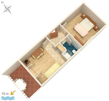 Apartment A-448-c - Apartments and Rooms Uvala Soline (Dugi otok) - 448