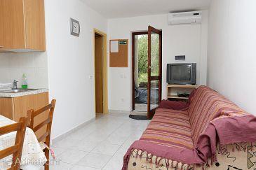 Lumbarda, Living room u smještaju tipa apartment, dostupna klima, dopusteni kucni ljubimci i WIFI.