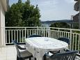 Kučište - Perna, Terrace u smještaju tipa apartment, s pogledom na more, dopusteni kucni ljubimci i WIFI.