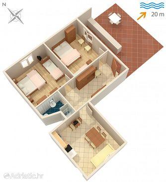 Sreser, Plan u smještaju tipa apartment.