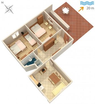 Apartament A-4560-a - Kwatery Sreser (Pelješac) - 4560