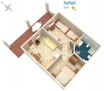 Apartament A-4568-b - Apartamenty Luka Dubrava (Pelješac) - 4568