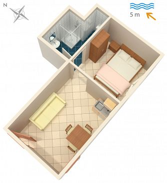 Studio AS-4568-a - Apartamenty Luka Dubrava (Pelješac) - 4568
