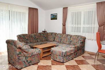 Žuljana, Living room u smještaju tipa apartment.