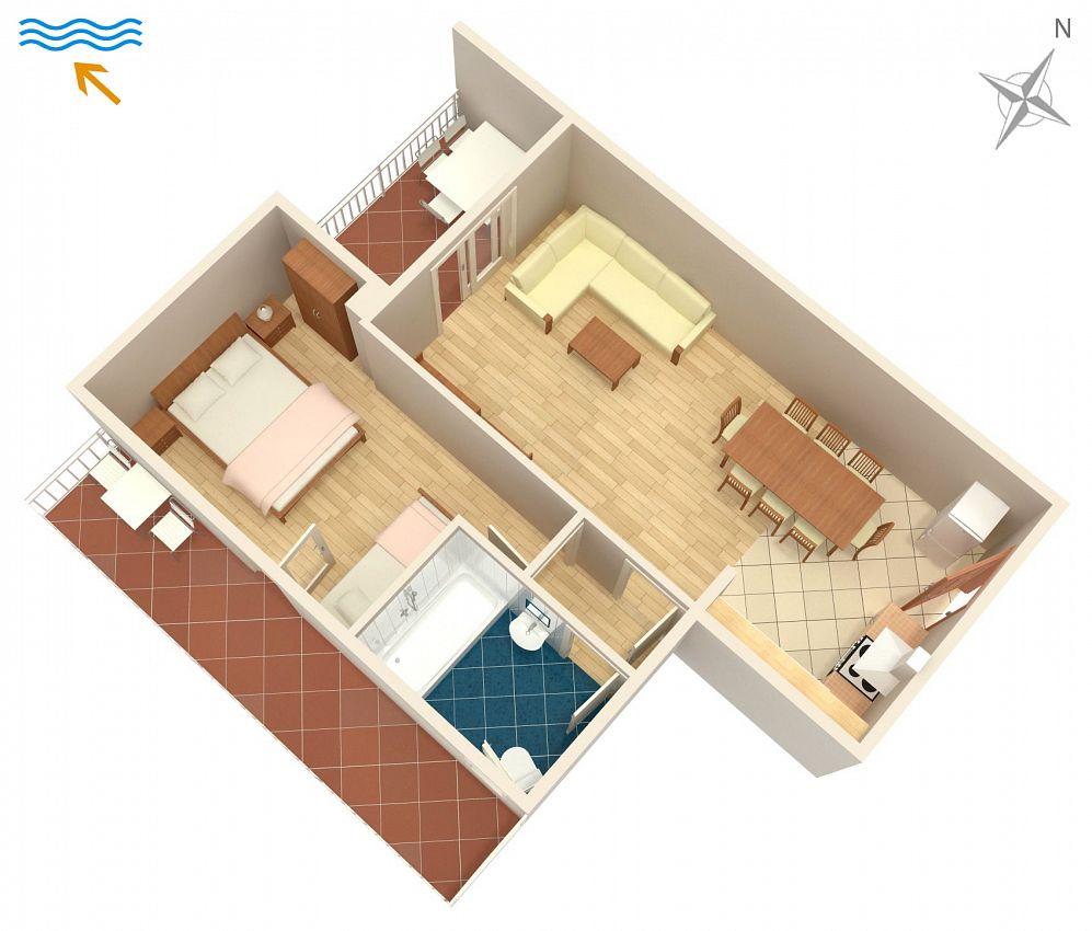 Apartmány s parkoviskom v meste Žuljana - 4576