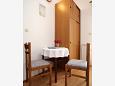 Okrug Gornji, Dining room u smještaju tipa studio-apartment, dopusteni kucni ljubimci i WIFI.