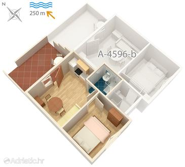 Apartment A-4596-a - Apartments Uvala Zaraće (Hvar) - 4596