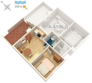Apartament A-4596-a - Apartamenty Uvala Zaraće (Hvar) - 4596