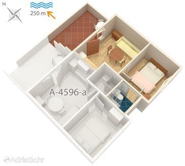 Apartment A-4596-b - Apartments Uvala Zaraće (Hvar) - 4596