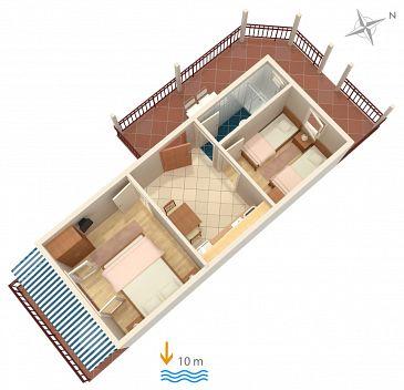 Apartament A-4598-a - Apartamenty Uvala Zaraće (Hvar) - 4598