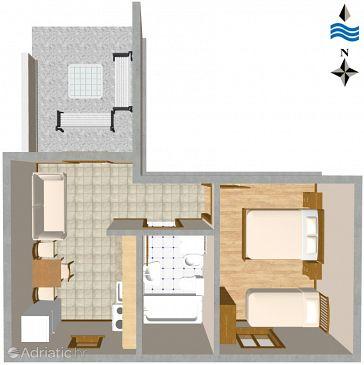 Apartment A-460-d - Apartments Slatine (Čiovo) - 460