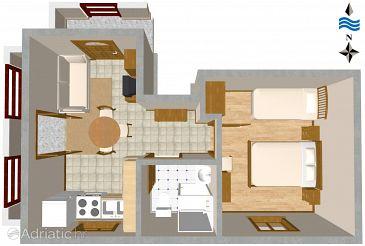 Apartment A-460-e - Apartments Slatine (Čiovo) - 460