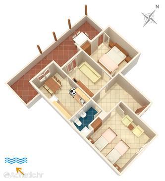 Apartment A-4604-a - Apartments Uvala Pokrivenik (Hvar) - 4604