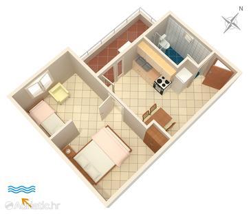 Apartment A-4604-d - Apartments Uvala Pokrivenik (Hvar) - 4604
