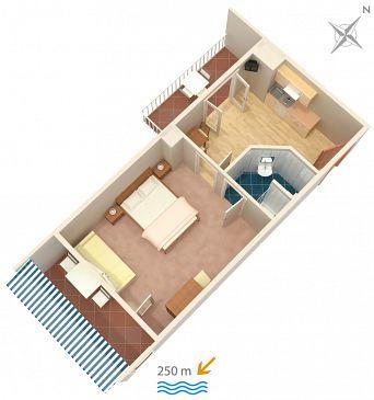 Apartament A-4632-b - Kwatery Duće (Omiš) - 4632
