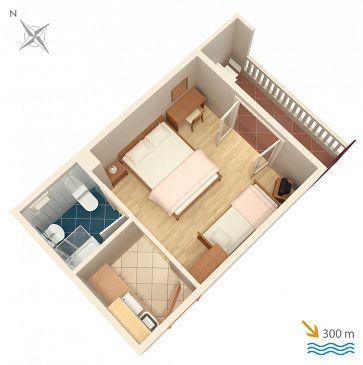 Studio AS-4650-a - Apartamenty Duće (Omiš) - 4650
