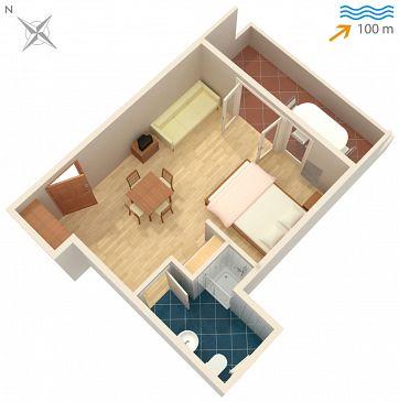 Studio flat AS-4654-b - Apartments Omiš (Omiš) - 4654