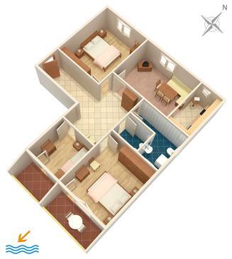Apartment A-466-c - Apartments Brodarica (Šibenik) - 466