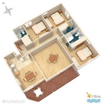 Apartment A-4664-a - Apartments Duće (Omiš) - 4664