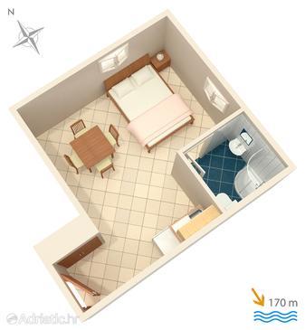 Studio flat AS-4664-a - Apartments Duće (Omiš) - 4664