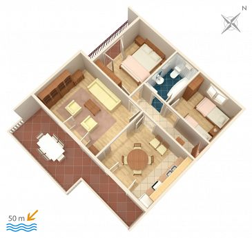 Apartament A-471-a - Apartamenty Grebaštica (Šibenik) - 471