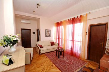 Dubrovnik, Living room u smještaju tipa apartment, dostupna klima i WIFI.