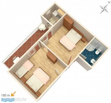 Apartment A-4734-a - Apartments Podaca (Makarska) - 4734
