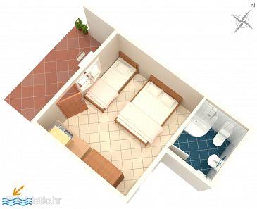Studio flat AS-4734-a - Apartments Podaca (Makarska) - 4734