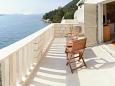 Slano, Terrace u smještaju tipa apartment, s pogledom na more i WIFI.