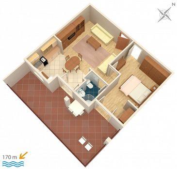 Apartament A-4796-b - Apartamenty Duće (Omiš) - 4796