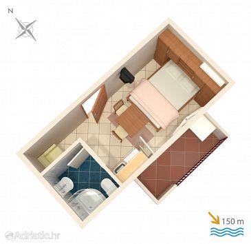 Studio flat AS-4798-b - Apartments Duće (Omiš) - 4798