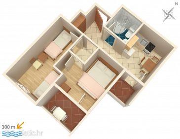 Apartment A-4820-b - Apartments Lokva Rogoznica (Omiš) - 4820