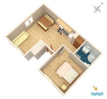 Apartament A-4824-b - Apartamenty Primošten (Primošten) - 4824
