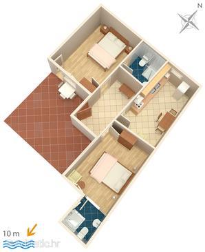 Apartment A-4833-b - Apartments Brodarica (Šibenik) - 4833
