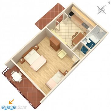 Apartment A-4834-a - Apartments Nemira (Omiš) - 4834
