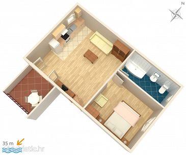 Apartment A-4842-b - Apartments Okrug Donji (Čiovo) - 4842