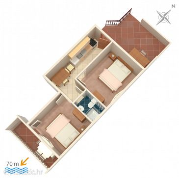 Apartment A-4850-b - Apartments Marina (Trogir) - 4850