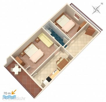 Apartment A-4850-d - Apartments Marina (Trogir) - 4850