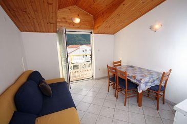 Grebaštica, Jadalnia u smještaju tipa apartment, dostupna klima i dopusteni kucni ljubimci.