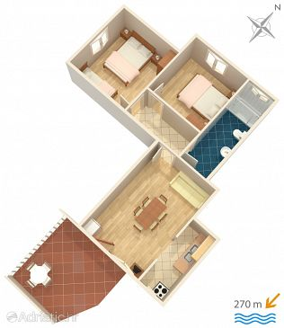 Apartment A-487-a - Apartments Srima - Vodice (Vodice) - 487