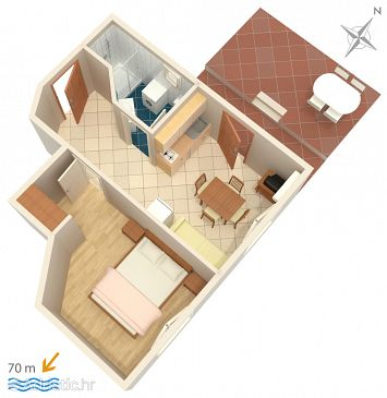 Apartment A-4874-b - Apartments Medići (Omiš) - 4874