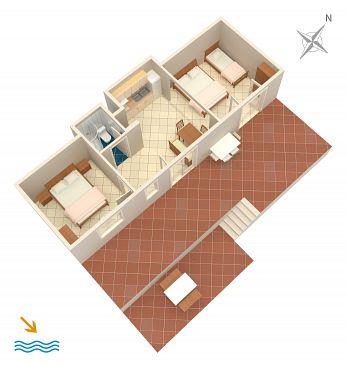 Apartament A-4875-b - Apartamenty Uvala Torac (Hvar) - 4875