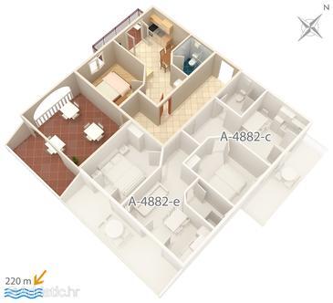 Apartment A-4882-d - Apartments Grebaštica (Šibenik) - 4882