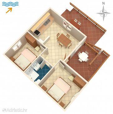 Apartment A-489-a - Apartments Uvala Dumboka (Dugi otok) - 489