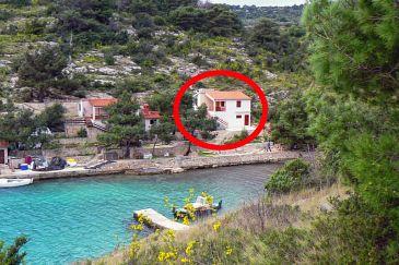 Property Uvala Dumboka (Dugi otok) - Accommodation 489 - Apartments near sea with rocky beach.