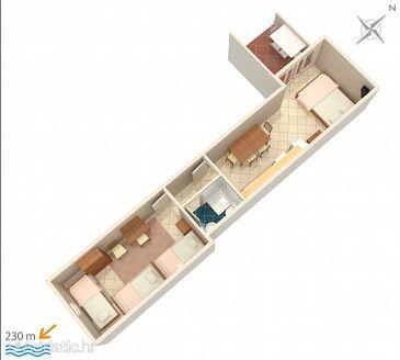 Apartment A-4890-b - Apartments Drvenik Gornja vala (Makarska) - 4890