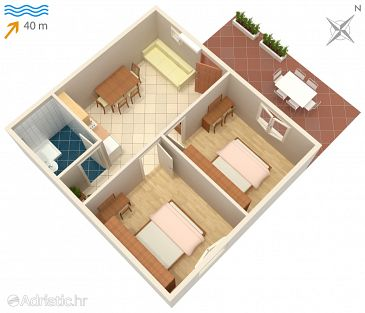 Apartment A-4950-b - Apartments Kozarica (Mljet) - 4950