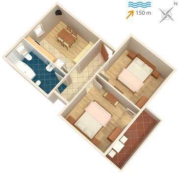 Apartament A-4954-b - Kwatery Supetarska Draga - Donja (Rab) - 4954